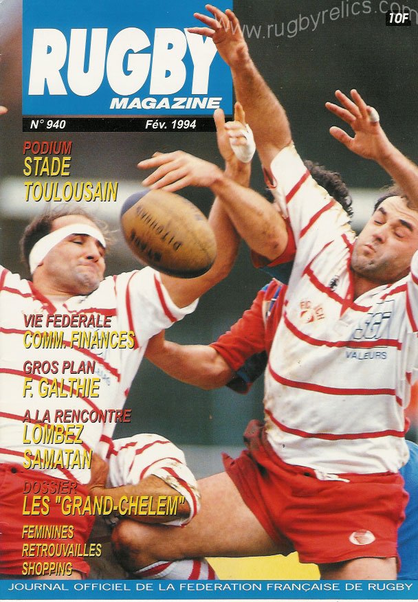 rugby magazines brochures booklets from france