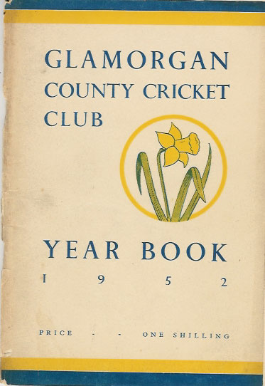 1952 - GLAMORGAN CRICKET YEARBOOK - some light wear to spine