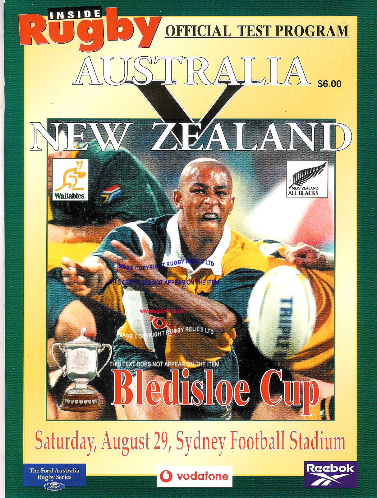 Australian International Rugby Programmes